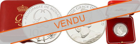 Commémorative 10 euros Argent Monaco 2019 BE - Princesse Grace de Monaco