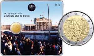Commémorative 2 euros France 2019 BU Monnaie de Paris - 30 ans Chute du mur de Berlin