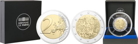 Commémorative 2 euros France 2019 BE Monnaie de Paris - Chute du mur de Berlin - en alerte disponibilité