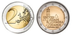 Commémorative 2 euros Portugal 2020 UNC - 730 ans Université de Coimbra