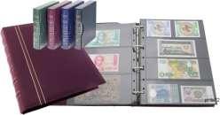 Coingallery Album Numismatique Classeur /à Anneaux pour Monnaie Billets M/édailles avec /Étui et Feuilles Banknote Pages 6 x 1 pocket Red