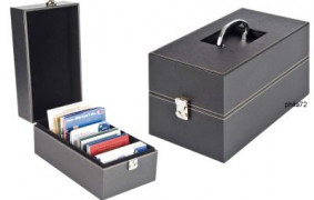 Valise NERA MULTI en simili cuir  sets de monnaies, BU, cartes, CD