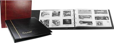 Album STANDARD CPA avec 20 feuilles panachées blanches pour 240 cartes postales anciennes sans ...