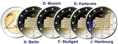 Commémorative 2 Euros Allemagne 2017 Unc Rhénanie Palatinat La