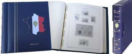 Album préimprimé SF France 1980 à 1994 avec reliure CLDP15 PERFECT CLASSIC France et étui assorti