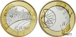 Commémorative 5 euros Finlande 2015 UNC - Le basket ball