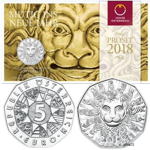 Pièce Commémorative 5 Argent Cuivre Autriche 2019 Brillant Universel