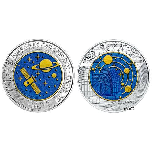 Pièce Commémorative 25 Euros Argent Niobium Autriche 2017 Brillant