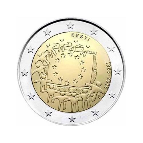 2 Euros Commémoratives 30 Ans Drapeau Européen 2015 éditions